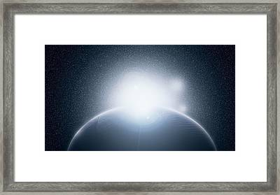 New Moon Framed Print by John Horrocks