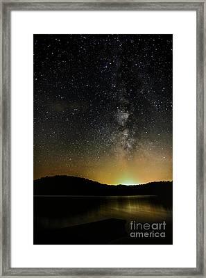 New Moon Lake Framed Print