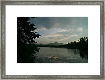 Framed Print featuring the photograph New Morning On Lake Umbagog  by Neal Eslinger