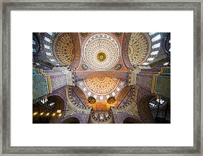 New Mosque Ceiling Framed Print by Artur Bogacki