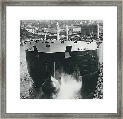 New Oil Tanker Launched Framed Print by Retro Images Archive
