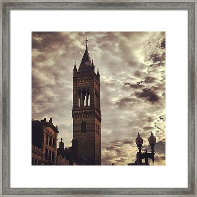 New Old South Church Framed Print by Stephen Melcher
