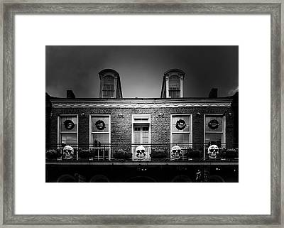 New Orleans- A Skull Paradise Framed Print by Christine Till
