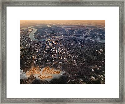 Framed Print featuring the photograph New Orleans Aerial View by Anthony Citro