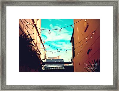 Framed Print featuring the photograph New Orleans Alley by Sylvia Cook
