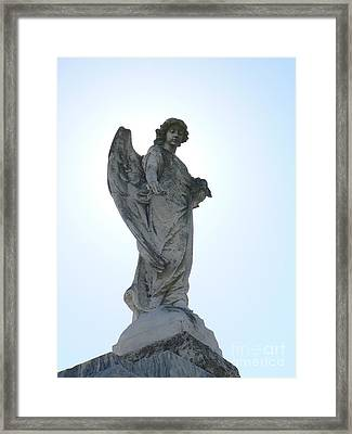 New Orleans Angel 2 Framed Print by Elizabeth Fontaine-Barr