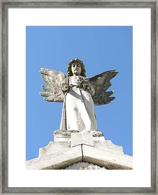 New Orleans Angel 5 Framed Print by Elizabeth Fontaine-Barr