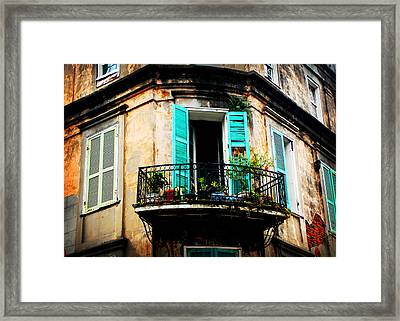 New Orleans Balcony Framed Print
