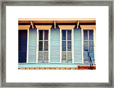 Framed Print featuring the photograph New Orleans Blue And Orange House by Sylvia Cook