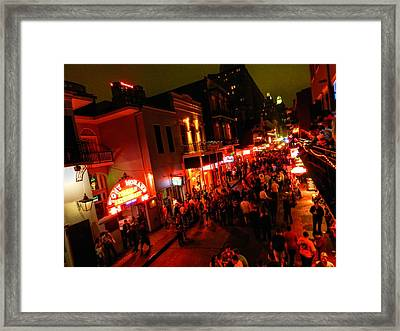 New Orleans - Bourbon St. 003 Framed Print by Lance Vaughn