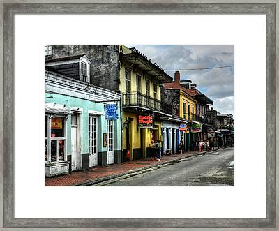 New Orleans - Bourbon Street 006 Framed Print by Lance Vaughn