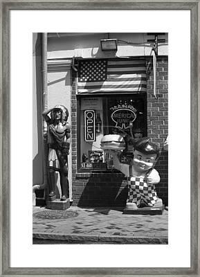 New Orleans - Bourbon Street 26 Framed Print by Frank Romeo