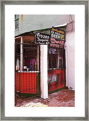 New Orleans - Bourbon Street 5 Framed Print by Frank Romeo