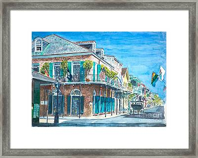 New Orleans Bourbon Street Framed Print by Anthony Butera