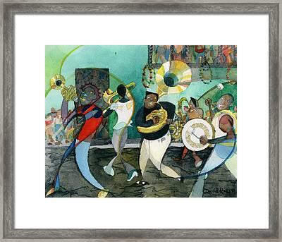 New Orleans Brass Band Jazz Framed Print