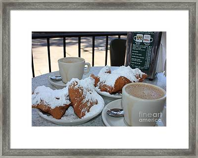 New Orleans Breakfast Framed Print