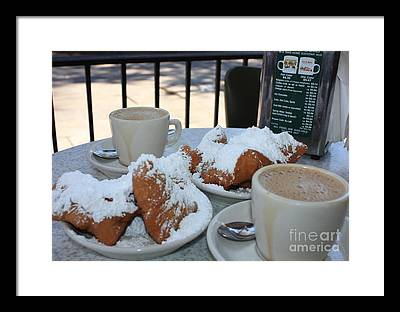 Beignet Photographs Framed Prints