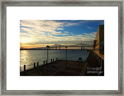 Framed Print featuring the photograph New Orleans Bridge by Erika Weber