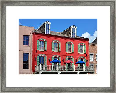 New Orleans Bubba Gump Shrimp Co Framed Print by Christine Till
