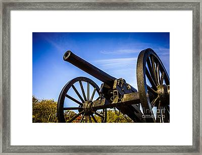 New Orleans Cannon At Washington Artillery Park Framed Print