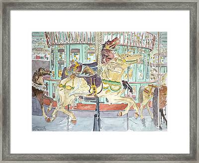 New Orleans Carousel Framed Print by Anthony Butera