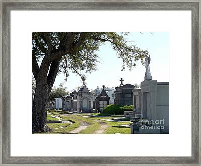 New Orleans Cemetery 3 Framed Print by Elizabeth Fontaine-Barr