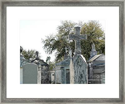 New Orleans Cemetery 4 Framed Print by Elizabeth Fontaine-Barr