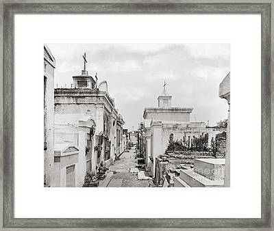 New Orleans: Cemetery Framed Print by Granger