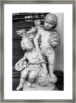 New Orleans Chained Cherubs Framed Print by J Michael Whitaker