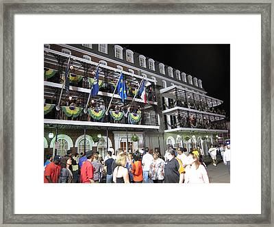 New Orleans - City At Night - 12121 Framed Print by DC Photographer