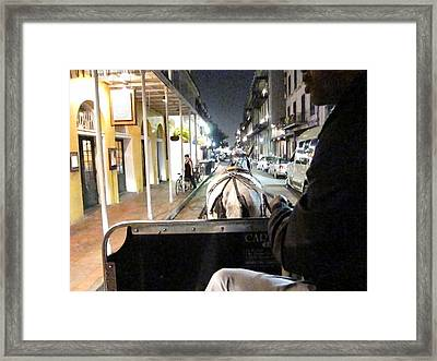 New Orleans - City At Night - 121212 Framed Print by DC Photographer
