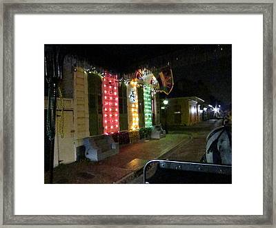 New Orleans - City At Night - 121218 Framed Print
