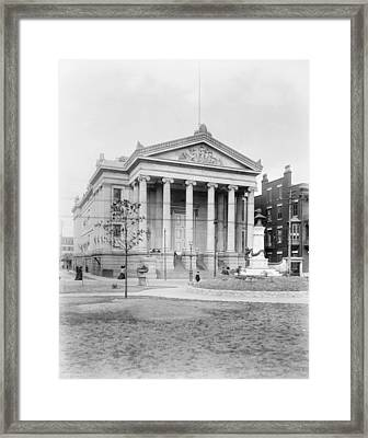 Framed Print featuring the photograph New Orleans City Hall by Granger