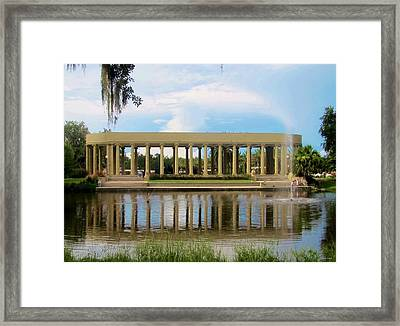 New Orleans City Park - Peristyle Framed Print