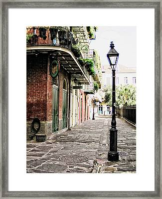 Framed Print featuring the photograph New Orleans Cobblestone by Heather Green