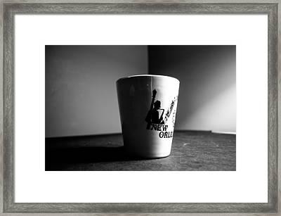 New Orleans Coffee Cup Framed Print by VJ Bobnicoff