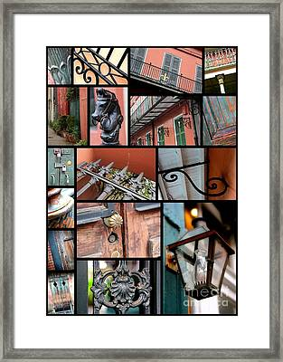 New Orleans Collage 2 Framed Print by Carol Groenen