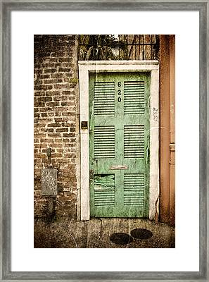 New Orleans Doorway Framed Print by Ray Devlin