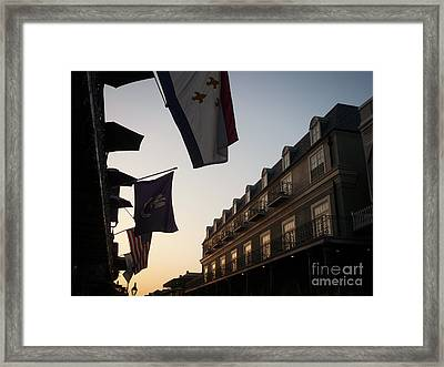 Evening In New Orleans Framed Print
