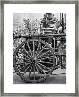 New Orleans Fire Department 1896 Bw Framed Print