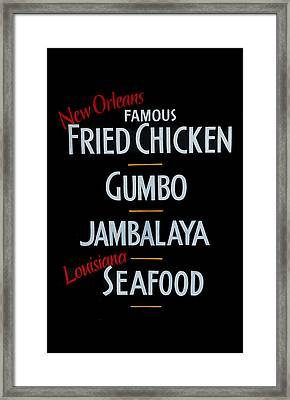 New Orleans Food Framed Print