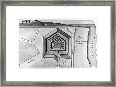 New Orleans: Fort, 1814 Framed Print by Granger