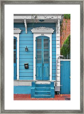 New Orleans Front Door Framed Print by Christine Till