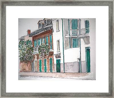 New Orleans Gov. Nichols And Royal St Framed Print by Anthony Butera