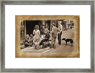New Orleans Gypsies - Antique Framed Print by Judy Vincent