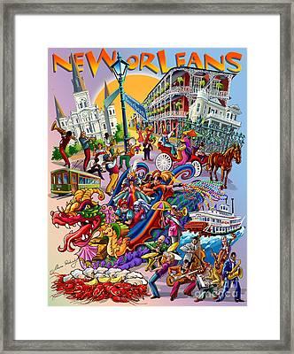 New Orleans In Color Framed Print
