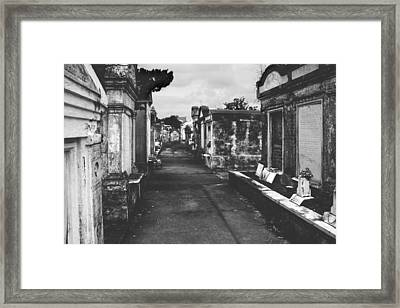 New Orleans Lafayette Cemetery Framed Print by Christine Till