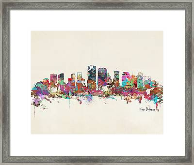 New Orleans Louisiana Skyline Framed Print by Bri B
