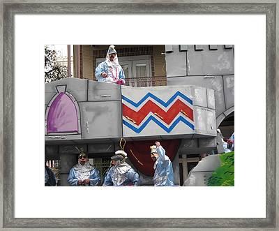 New Orleans - Mardi Gras Parades - 1212103 Framed Print