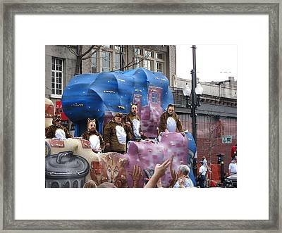 New Orleans - Mardi Gras Parades - 1212118 Framed Print by DC Photographer